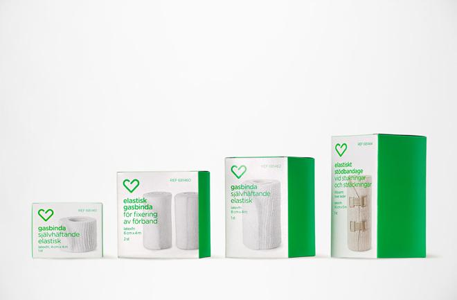חלק מהמגוון העצום של מוצרי Apotek Hjärtat / לקוח מהאתר של BVD