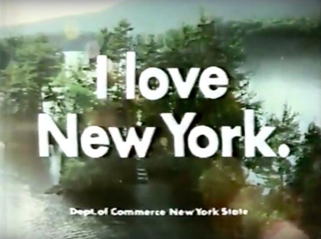 מתוך סרטון הוידאו שהופךק ב1977 למדינת ניו יורק. תחת הסלוגן: I LOVE NEW YORK