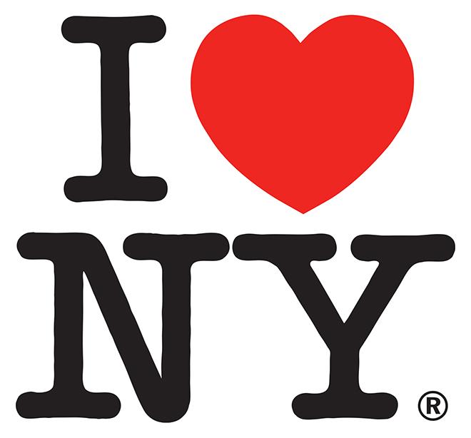 לוגו אייקוני על זמני למדינת ניו יורק / עיצוב: מילטון גלייזר, 1977