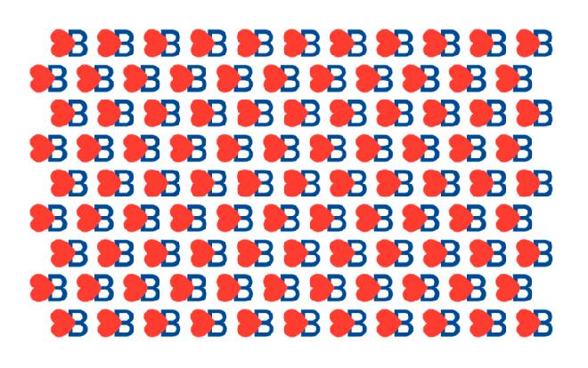 הפטרן שיצר גלייזר (מזכיר באופן מחשיד את הפטרן מהקמפיין לנשיאות של הילארי קלינטון בשנת 2016) / מתוך האתר של מילטון גלייזר