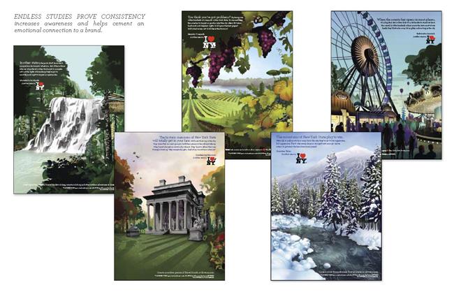 פוסטרים שונים / מתוך ספר המותג של ניו יורק, 2008