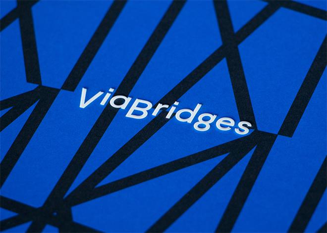 הלוגו של Via Bridges / הסטודיו למיתוג של דן אלכסנדר