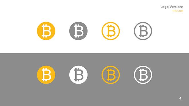 עיצוב אייקון שנשען על רעיונות של מטבעות מסורתיים: שימושים שונים לאייקון B של הביטקוין.קום