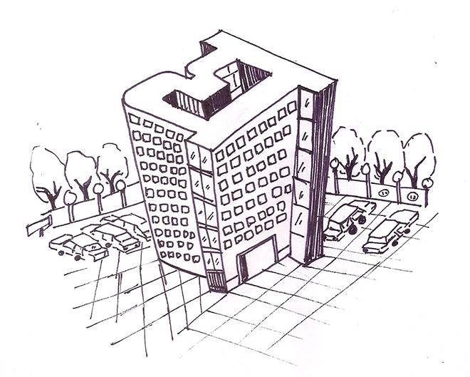 מתוך פרוייקט של בתים טיפוגרפיים בעת שהותה בברלין / איור: קימיה גנדהי