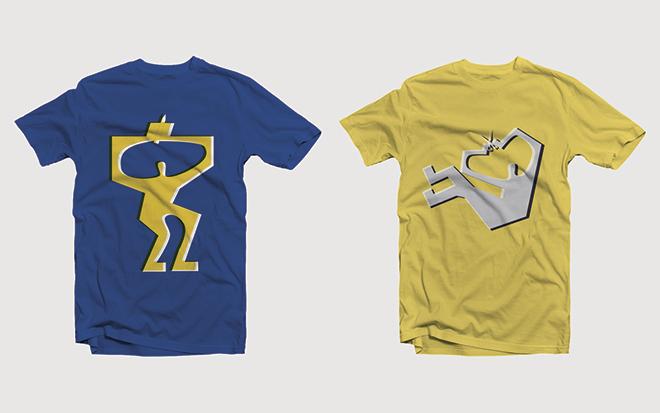 חולצות בהשראת מיתוג התערוכה