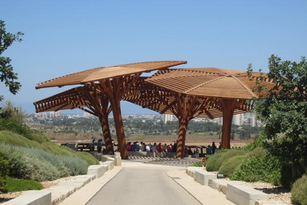 פארק אריאל שרון כולל גם את הר חירייה המשוקם (צילום:כרמל חנני)