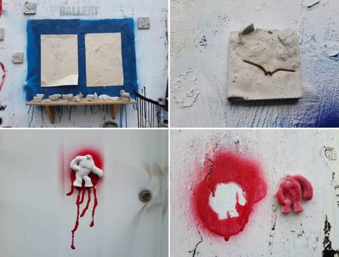 עבודות של שרון פזנר בגלריית הקיר, פינת רחוב תשע, מאי עד אוקטובר 2014