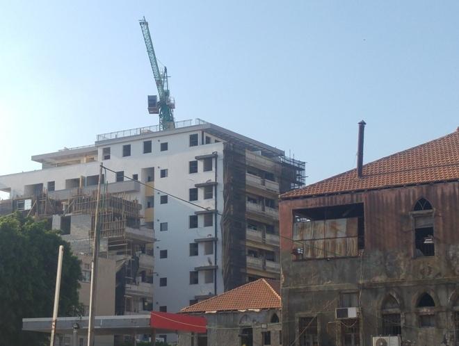 בניינים חדשים ברחוב הרצל (מבט מרחוב רבנו חננאל), 12 באוגוסט 2016