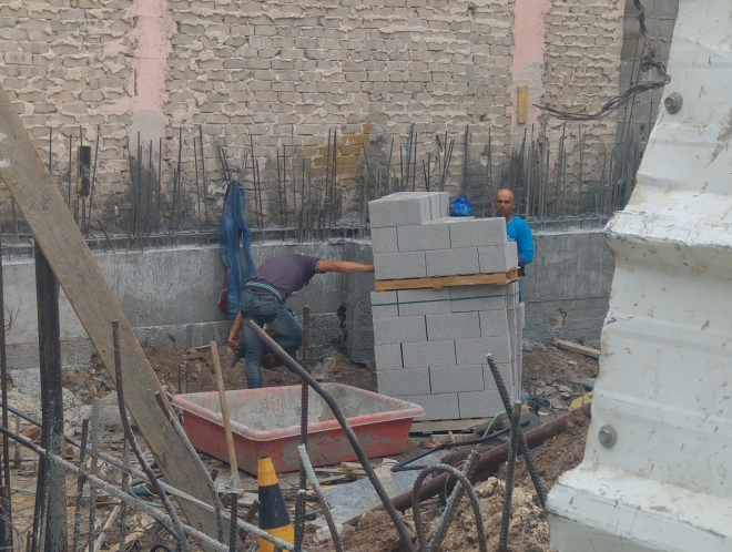 רחוב החלוצים 36, העבודות רק בתחילתן, 14 באוגוסט 2016