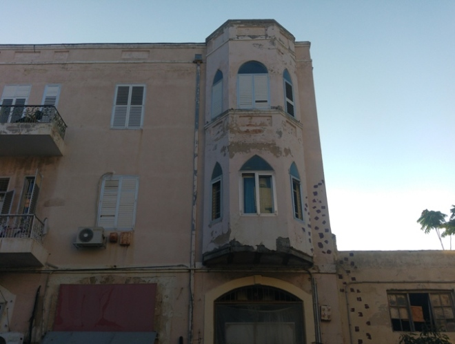 חזית הבית המערבית ברחוב הרצל, 13 באוגוסט 2016