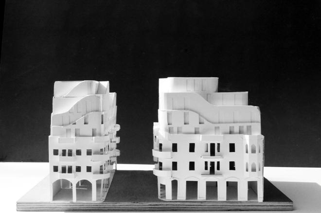 וגם מודל שלישי שנבנה, הקרוב ביותר לתוכניות הסופיות (באדיבות פרדו אדריכלים)