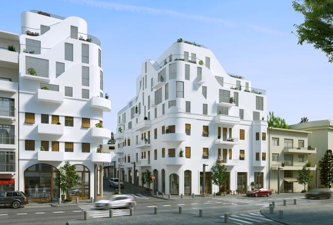 הבניינים המחודשים של מטלון בתכנון אדריכל יניב פרדו (הדמיה: סטודיו benyo)