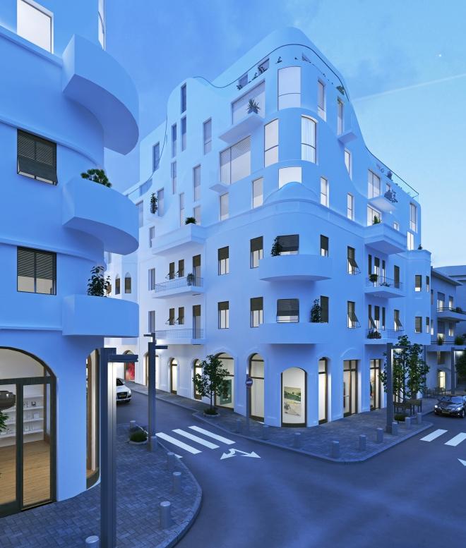 העתיד של פלורנטין. 60 דירות מתוכננות בשני הבניינים, מרביתן קטנות (הדמיה: סטודיו benyo)