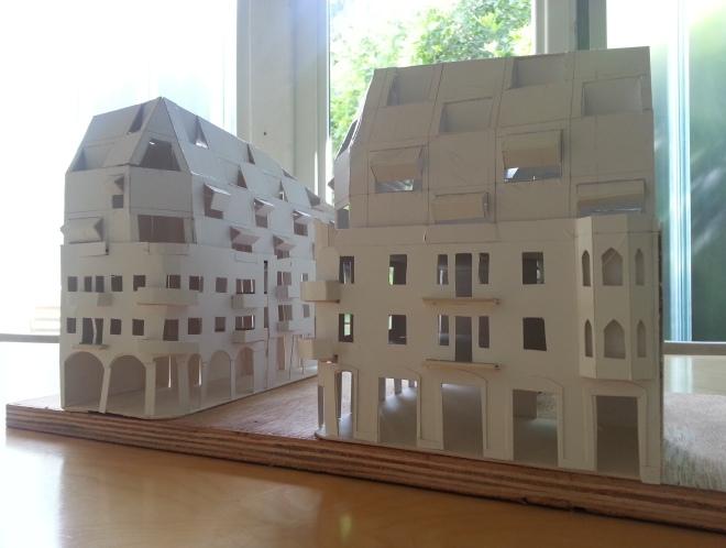 אחד מהמודלים הראשונים שבנו האדריכלים בשלב התכנון (באדיבות פרדו אדריכלים)