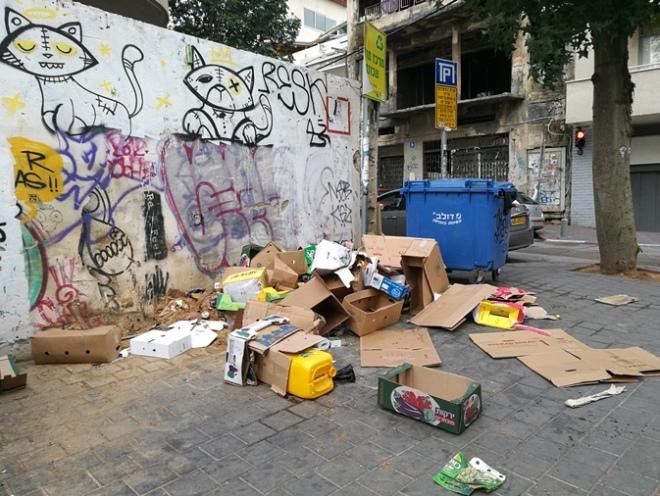 רחוב פלורנטין פינת בן עטר, 2 בינואר 2018