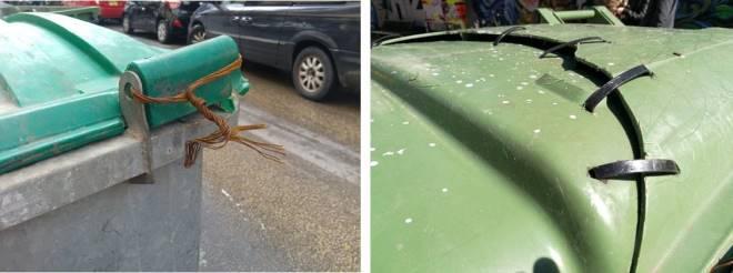 תיקונים ידיים לפחים ברחובות כפר גלעדי והקישון, פברואר 2016, פברואר 2017