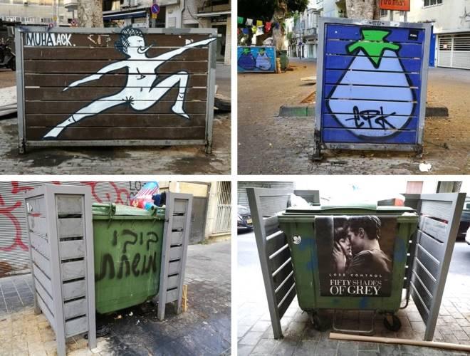 המחסה האסתטי ברחובות הקישון, בנבנישתי ושדרות וושינגטון, 2017