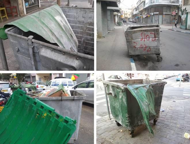 עגלות זבל חולות ברחובות הקישון, הרצל וכפר גלעדי, 2012-2016