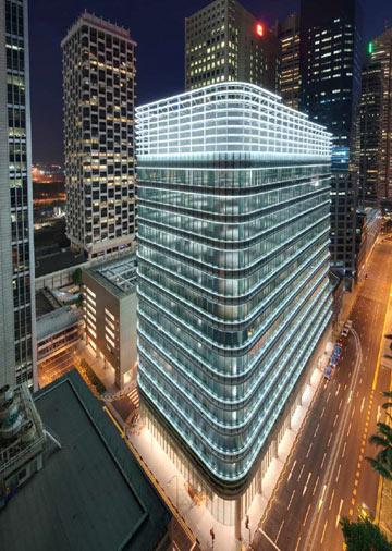 פרויקט בסינגפור של המשרד (צילום: Ingenhoven architecht )