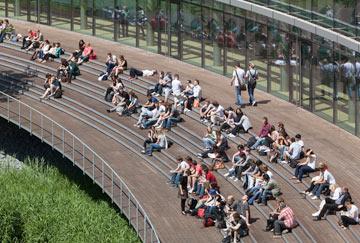 כיף לסטודנטים. האוניברסיטה בדיסלדורף (צילום: H.G. Esch, Hennef)
