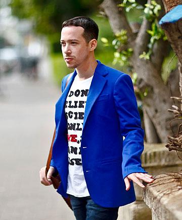 מארק גולדנברג. ''ניתנה לי האפשרות לשהות בבית האופנה שנה שלמה, אבל בפועל הייתי שם חודשים - כתוצאה מהנטל הכלכלי של דמי מחיה בניו יורק''  (צילום: רונן בוידק )
