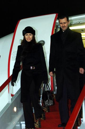 הזוג אל-אסד בביקור ברוסיה, 2005 (צילום: gettyimages)