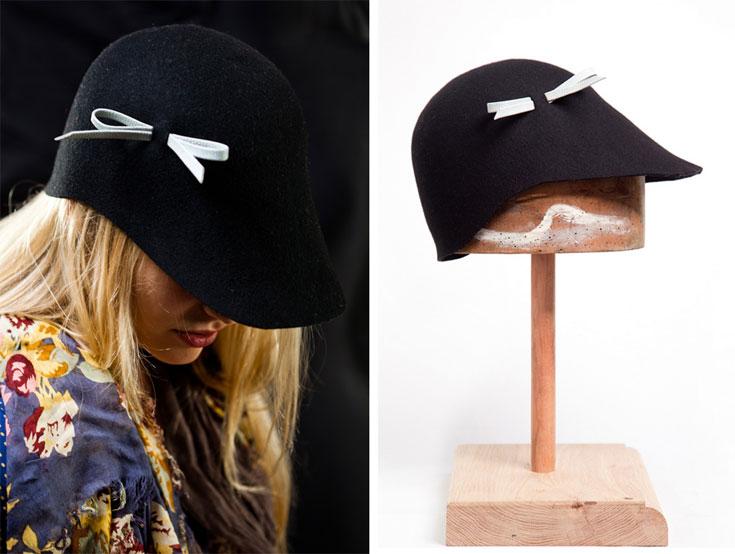 הכובעים של Justine. ''כובע הוא פריט שמסמל העזה והתהדרות. אבל בישראל יש פחד מאוד גדול מכובעים'' (צילום: דניאל לילה )