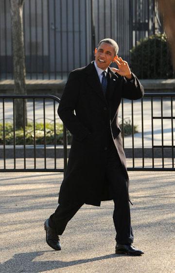 ברק אובמה. זוכה לתמיכה מטעם תעשיית האופנה (צילום: gettyimages)