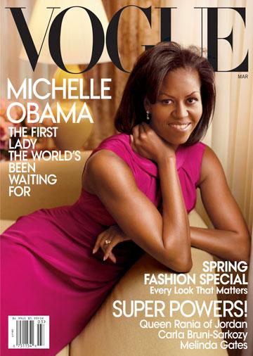 מישל אובמה על שער הווג האמריקאי. אנה ווינטור לא מפסיקה לבחוש בפוליטיקה