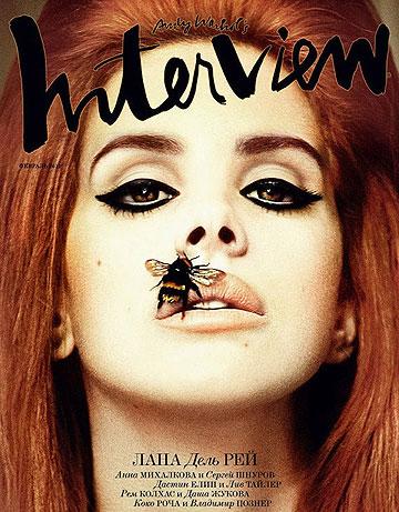 והשפתיים, אמיתיות? דל ריי על שער מגזין Interview הרוסי