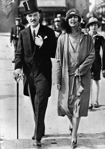 הנסיכה שרלוט ממונקו והרוזן הצרפתי פייר דה פוליגנק, 1925 (צילום: gettyimages)