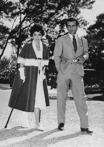 האריסטוקרט הפלייבוי דאדו רוספולי והשחקנית מארה ליין, 1955 (צילום: gettyimages)