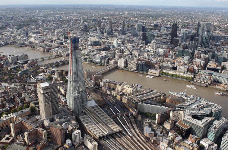 אייקון חדש בלונדון: The Shard הוא המגדל הגבוה בעיר, ובמערב אירופה בכלל (צילום: gettyimages)