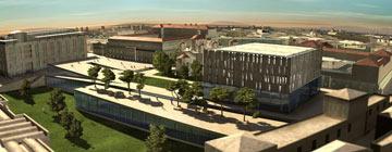 ההצעה לקמפוס בצלאל (הדמיה: באדיבות קלוש צ'צ'יק אדריכלים)