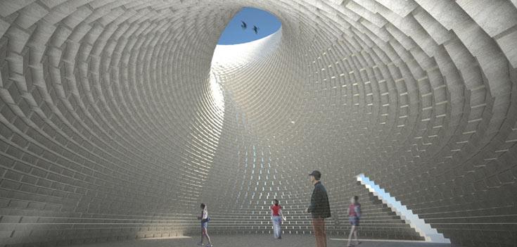 כך אמור להיראות אתר ההנצחה הלאומי בהר הרצל (בשיתוף קימל-אשכולות אדריכלים) (הדמיה: באדיבות קלוש צ'צ'יק אדריכלים)