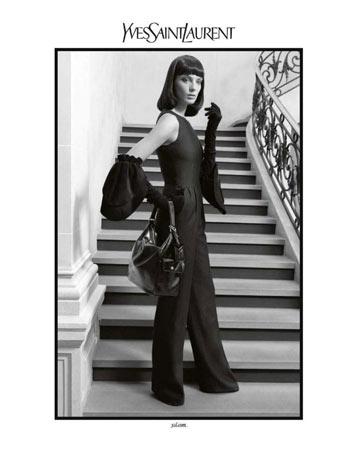 אלגנטית בקמפיין סתיו-חורף 2010-11 של איב סאן לורן