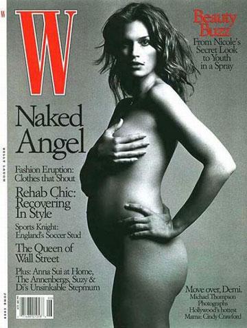 סינדי קרופורד מפרסמת את ילדיה עוד לפני שיצאו מהבטן, על השער של מגזין W