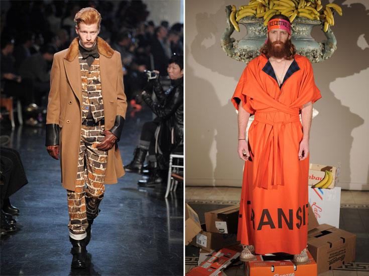 תצוגות האופנה של ברנהרד ווילהלם (מימין) וז'אן פול גוטייה. הג'ינג'ים מוזמנים לצאת מהארון (צילום: gettyimages)