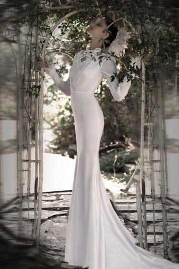 שמלת כלה של יניב פרסי. חלק בלתי נפרד מהקולקציה (צילום: איילת רבינוביץ)