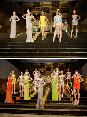 התצוגה של אטלייה ורסאצ'ה. פתחה את שבוע האופנה (צילום: gettyimages)
