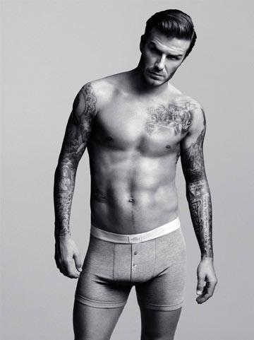 דיוויד בקהאם בקמפיין לקולקציית ההלבשה התחתונה שעיצב ל-H&M (צילום: אלסדייר מקללו)