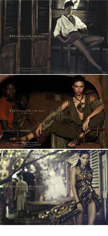 דונה קארן. הקמפיין עורר דיון מחודש בגזענות של עולם האופנה