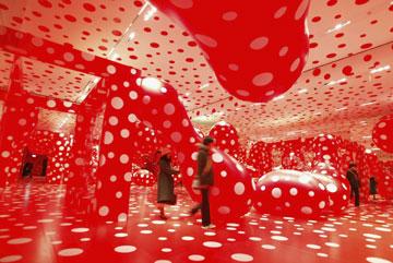 תערוכה של יאיוי קוסמה. תשתף פעולה עם מארק ג'ייקובס ללואי ויטון (צילום: gettyimages)