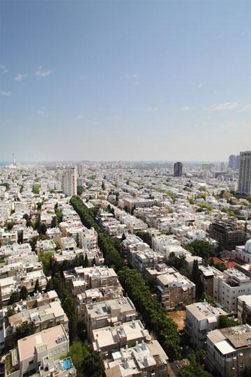 ת''א מהאוויר. היכן מתמחים בתכנון ערים? (צילום: אמית הרמן)