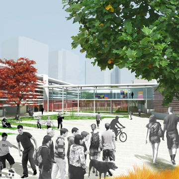 ההצעה של גוטמן אדריכלים (הדמיה: אדריכלית רבקה גוטמן)