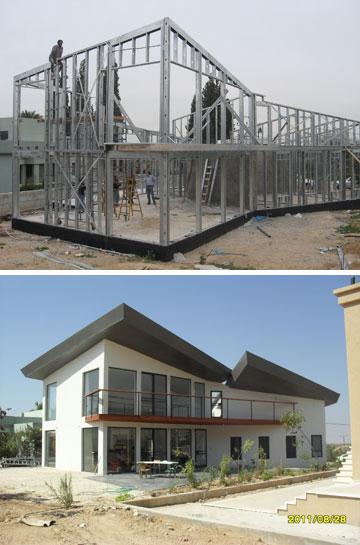 מבחוץ קשה להבחין שהבית נבנה מפלדה (צילום: מייטק ישראל)
