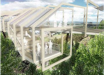 גשר החלונות. מקום 2 בתחרות (הדמיה: ריג אדריכלים)