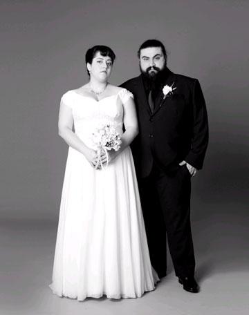 המקעקע אבי נשיא ובת זוגו בצילומי אופנה מושקעים של דודי חסון (צילום: דודי חסון)