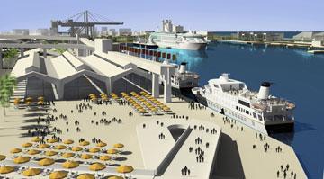 פרויקט חזית הים (הדמיה: עמי שנער אמיר מן אדריכלים)