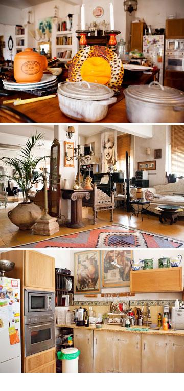 עיצוב הבית משיק לסגנון הלבוש המוכר של כספין – שניהם אקלקטיים, עמוסים, גדולים מהחיים (צילום: ענבל מרמרי)